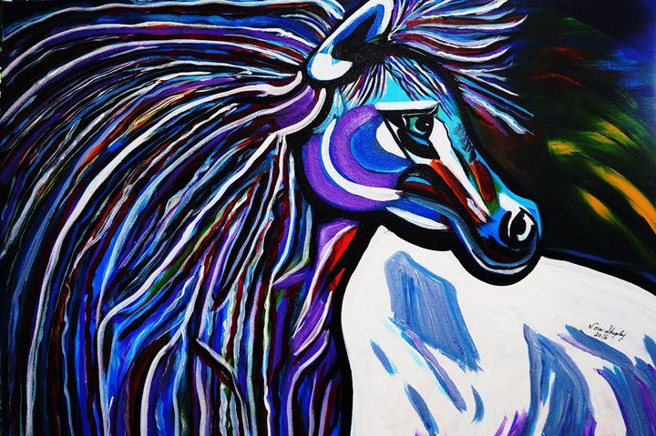 MID NIGHT BLUE - NORA SHEPLEY FINE ART