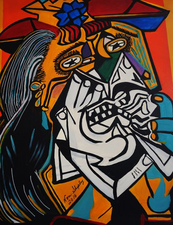 THE WEEPER  PICASSO BY NORA - NORA SHEPLEY FINE ART