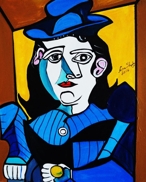 PICASSO BY NORA  MAN WITH BALL - NORA SHEPLEY FINE ART