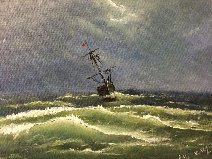Sailing Through Thunderstorm - MaxZ, Painting Gallery