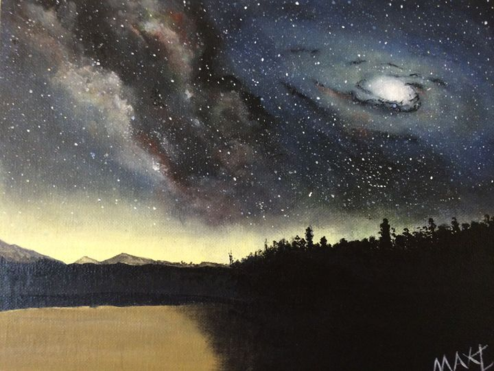 Dreamed the Night Milky Way Meets An - MaxZ, Painting Gallery
