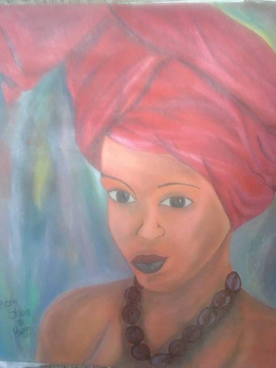 Black Woman Portrait - Steeve Taylor Art