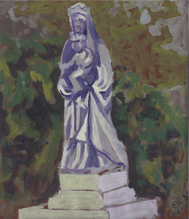 Statue in Auvillar - BossHeart