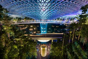 Illuminated Jewel at Changi Airport
