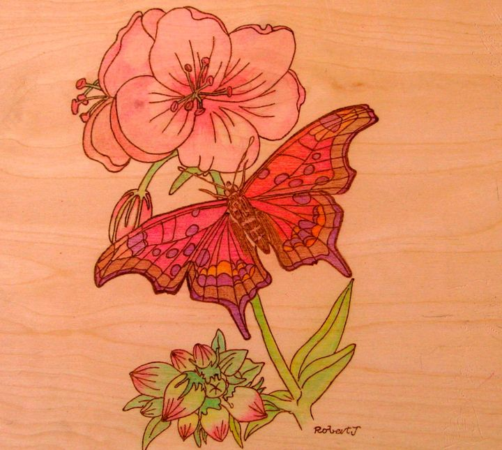 drunkin butterfly - art by fire