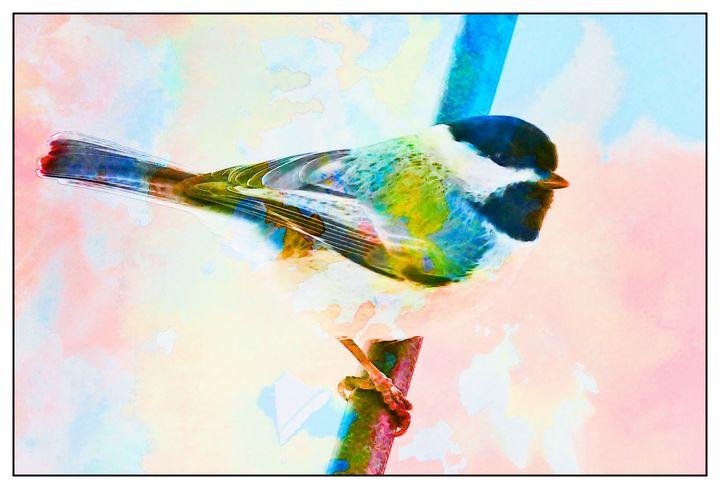 Chickadee Watercolor PhotoArt - PhotoArt By Darla