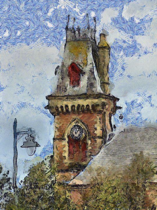Church Steeple PhotoArt - PhotoArt By Darla
