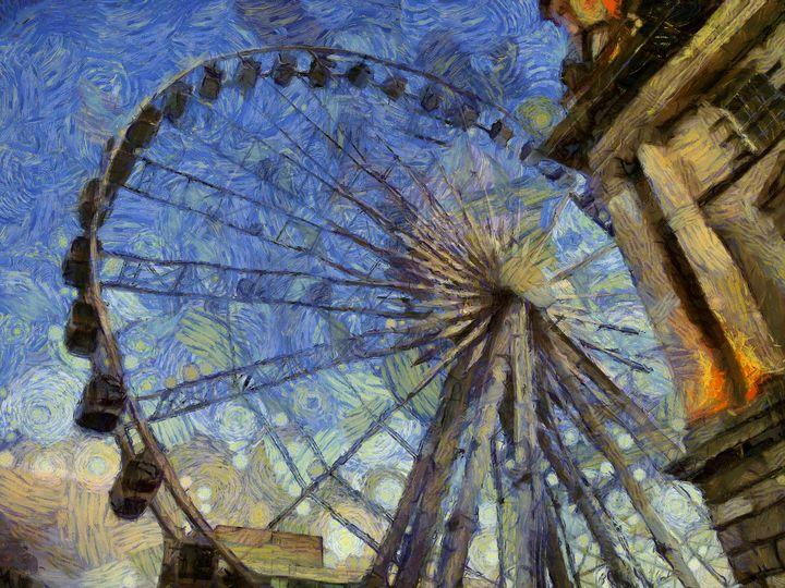 Ferris Wheel HD PhotoArt - PhotoArt By Darla