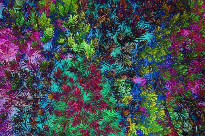 Pine Needles Abstract PhotoArt - PhotoArt By Darla