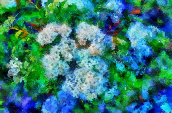 Flowering Shrub Abstract PhotoArt - PhotoArt By Darla