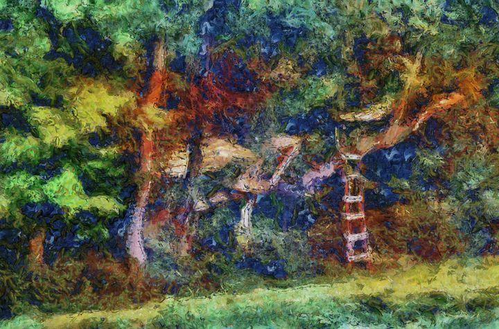 Backyard Treehouse Abstract PhotoArt - PhotoArt By Darla