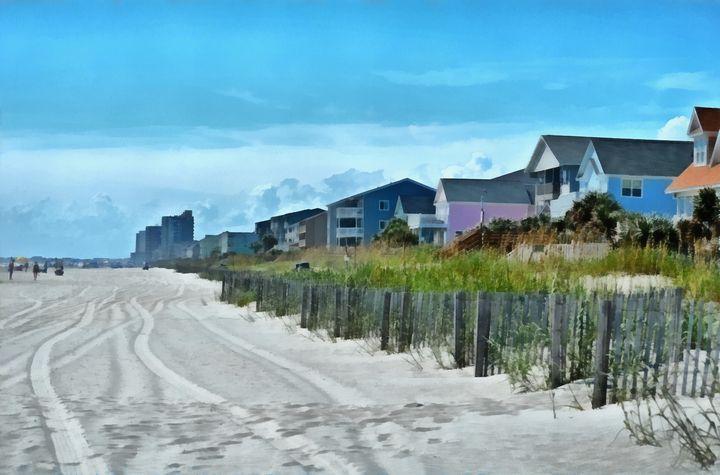 Sandy Beachfront PhotoArt - PhotoArt By Darla