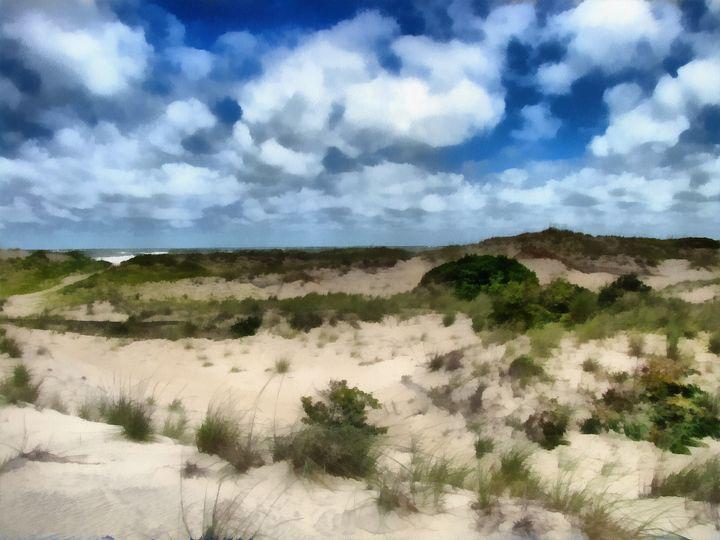 Ocean Sand Dunes PhotoArt - PhotoArt By Darla