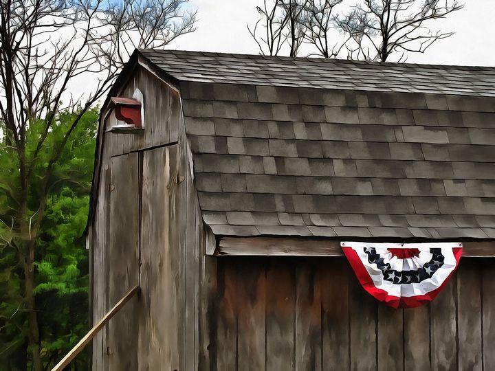 Patriotic Shed PhotoArt - PhotoArt By Darla