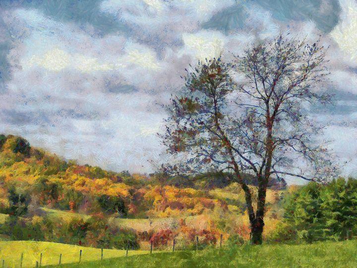 Country Autumn PhotoArt - PhotoArt By Darla