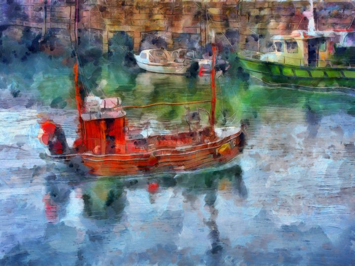 Irish Fishing Boats PhotoArt - PhotoArt By Darla