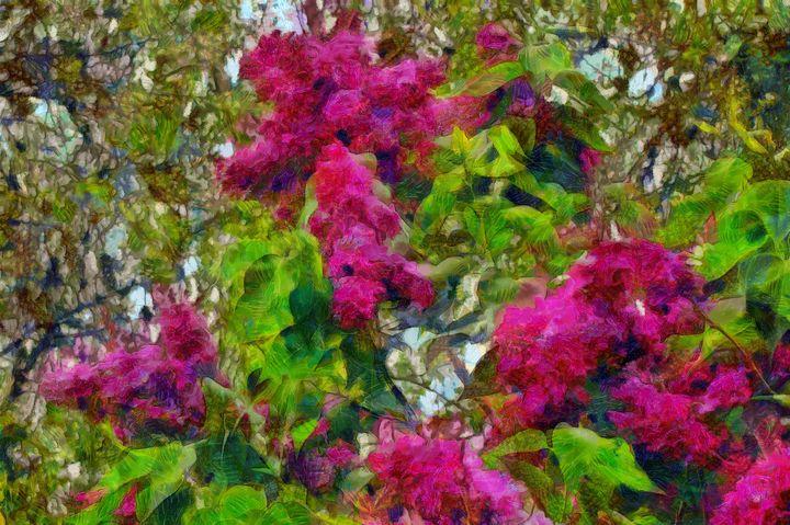 Lilac Bush with Flowers PhotoArt - PhotoArt By Darla