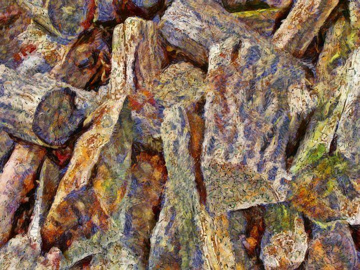 Firewood Logs PhotoArt - PhotoArt By Darla