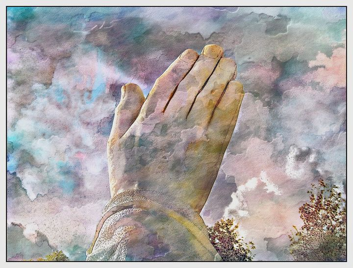 Praying Hands PhotoArt - PhotoArt By Darla