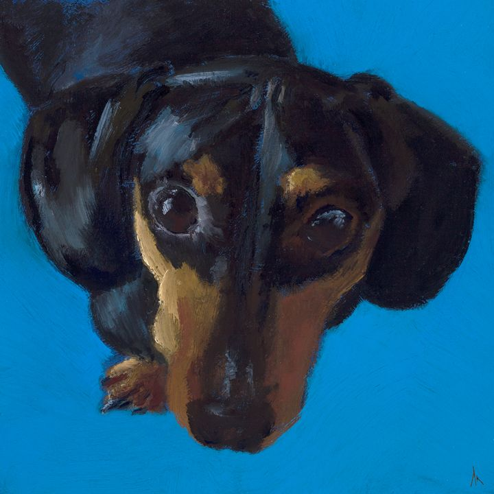 Happiness is a dachshund - AK FINE ART