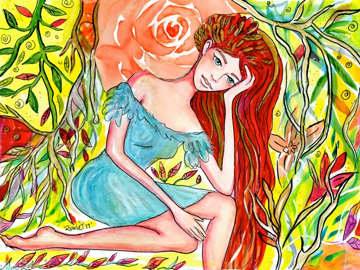 Dreaming Redheaded Girl - Roxie Colors