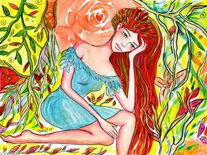 Dreaming Redheaded Girl