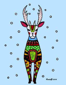 Folk Style Reindeer