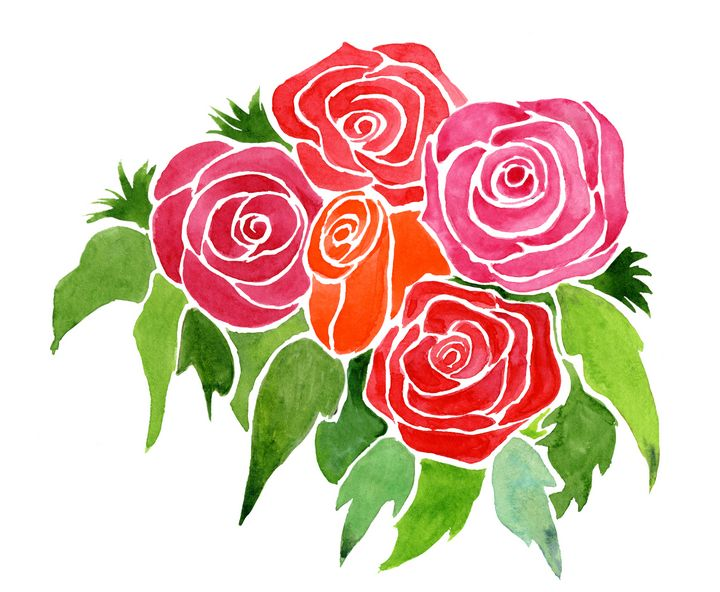 Red & Pink Roses - Roxie Colors