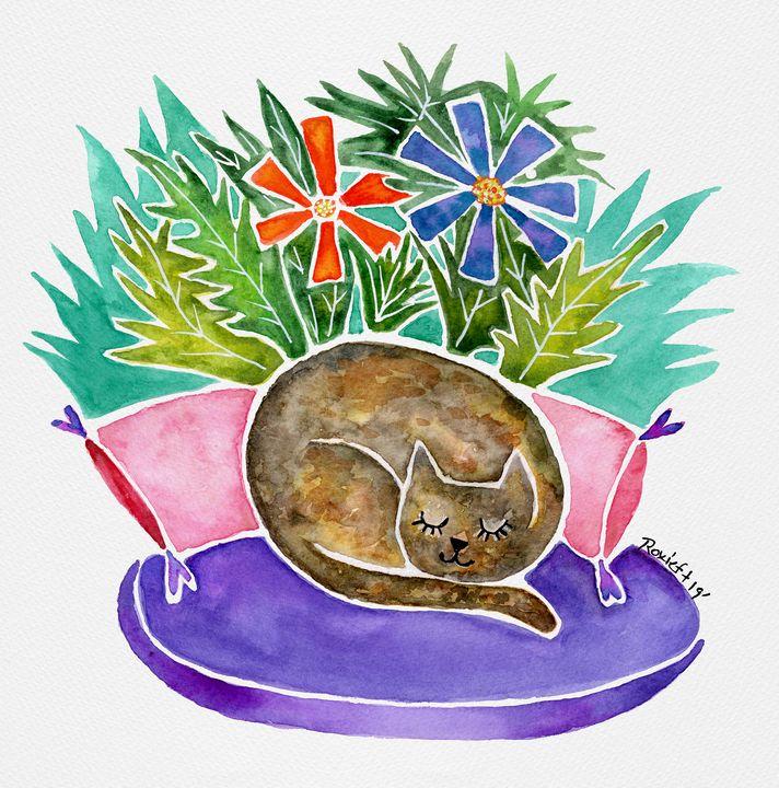 Sleepy Calico Tortoiseshell - Roxie Colors