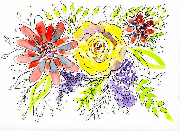 Whimsical Flowers - Roxie Colors