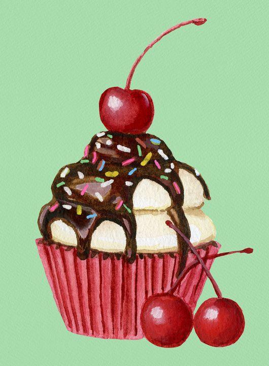Chocolate Cherry Cupcake - Roxie Colors