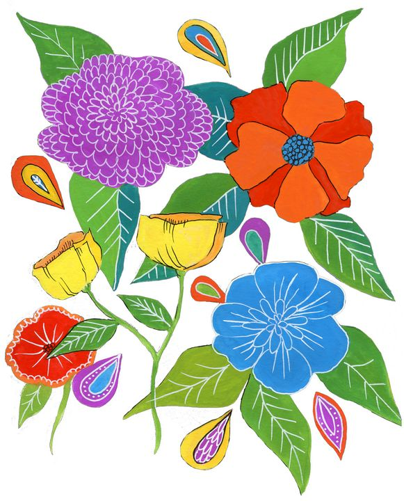 Whimsical Florals - Roxie Colors