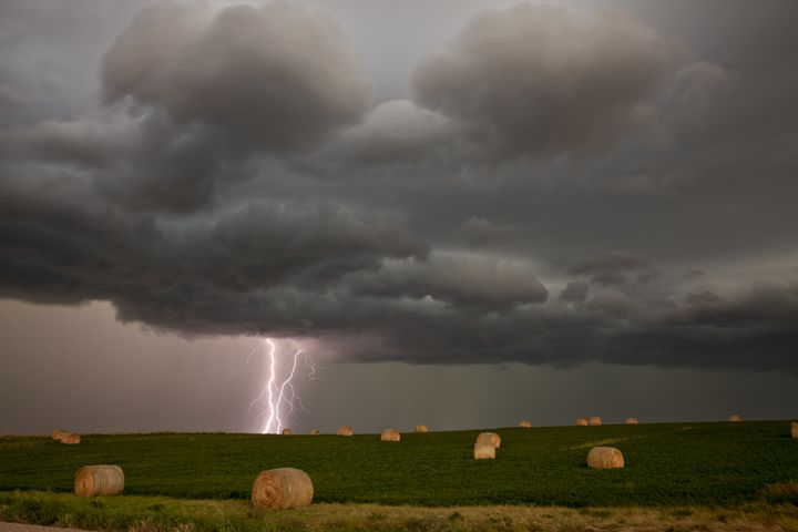 Prairie Storm Clouds Lightning - Fine Art Photography