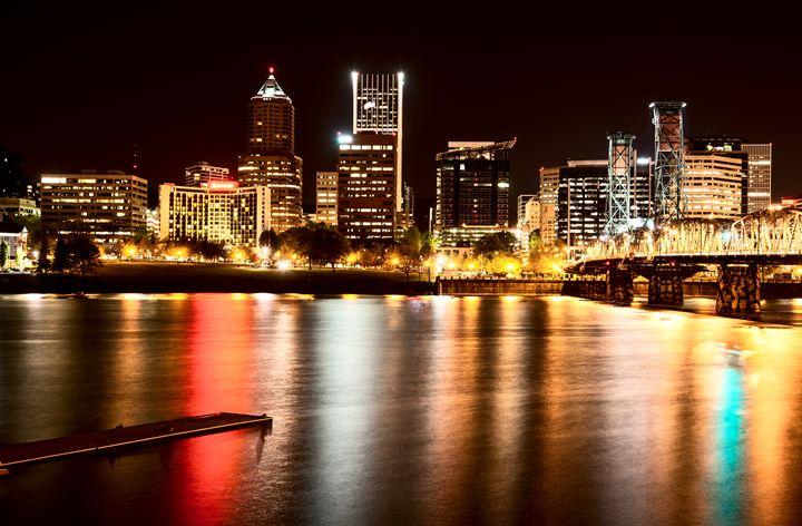 Night Shot Portland Oregon - Fine Art Photography