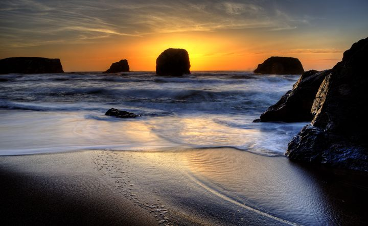 Sunset Bandon Oregon - Fine Art Photography