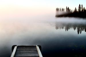 Dock jetty on Northern Lake - Fine Art Photography