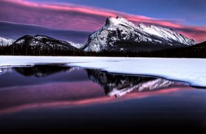 Sunset Mount Rundle - Fine Art Photography