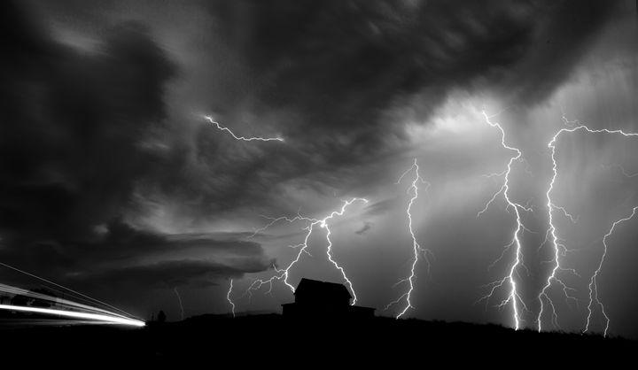 Storm Clouds Saskatchewan Lightning - Fine Art Photography
