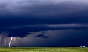 Prairie Storm Clouds Lightning - Fine Art Photography