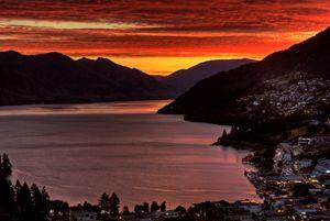 Queenstown New Zealand Sunset - Fine Art Photography