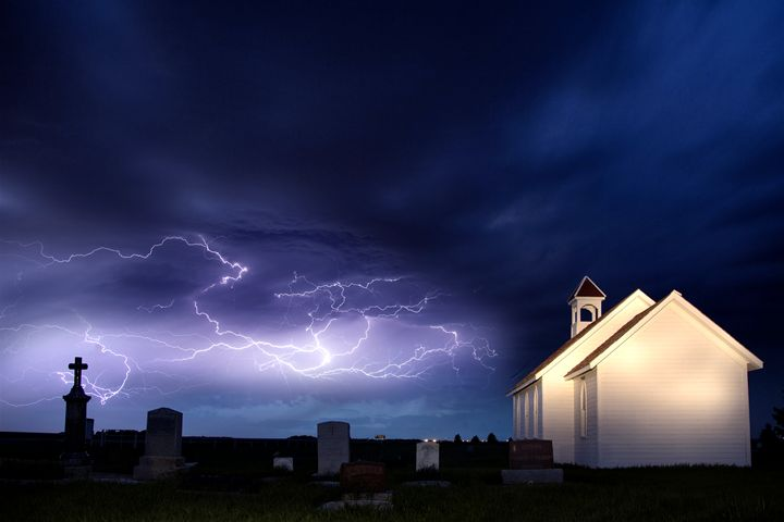 Storm and the Country Church - Fine Art Photography