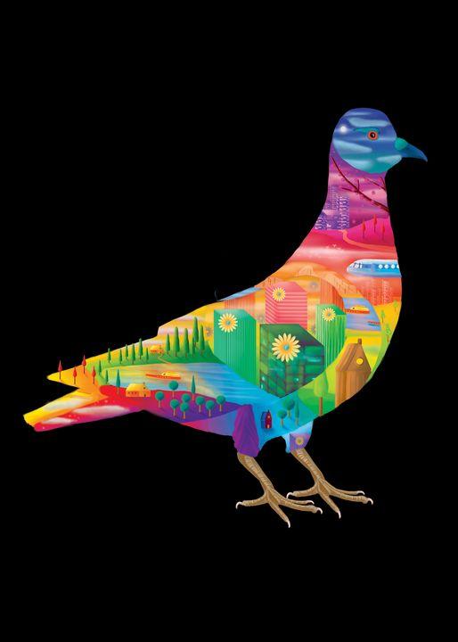 Colorful Pigeons - Arian.va