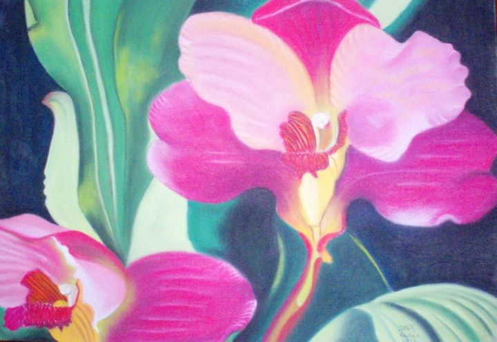 Orchid Pink Bloom - MjClaud Art