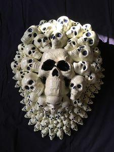 Halloween Skulls wall sculpture