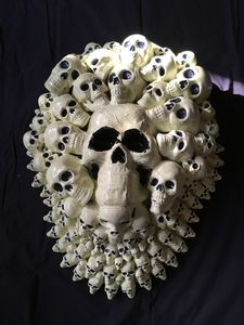 Halloween Skulls wall sculpture - mcgee