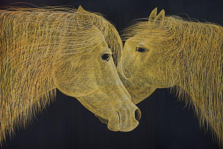 golden horses - tayorart