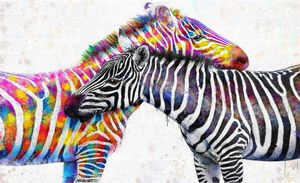 colorful zebra art by tayor