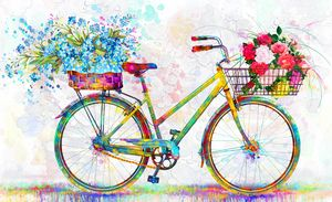 floral bicycle vintage