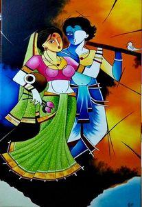 Radha Krishna modern art