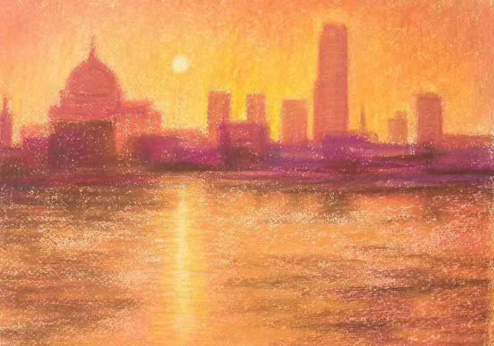 London at Dusk - Joel Ramsay Art